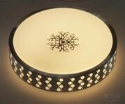 捷本照明时尚高透光圆形灯罩杭州吸顶灯灯罩厂图片