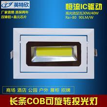COB旋转投光灯LED告灯户外灯30w图片