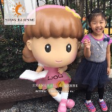 上海升美花花姐姐玻璃钢雕塑卡通户外树脂模型道具商场美陈摆件工厂定制订做