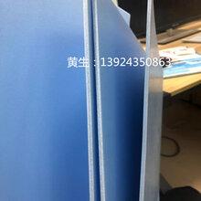 厂家直销杭州淳安pp微发泡板2mm蓝色隔板防静电pp胶板图片