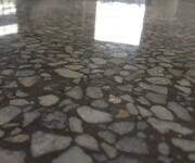 广东惠州博罗石湾镇厂房水磨石起灰处理---石湾车间水磨石起灰翻新---防尘光亮图片