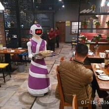 智能迎宾机器人送餐机器人颜值代表众仆小月求约啦!