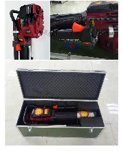 钢桩和木桩都能打入图里的防汛抢险打桩机设备