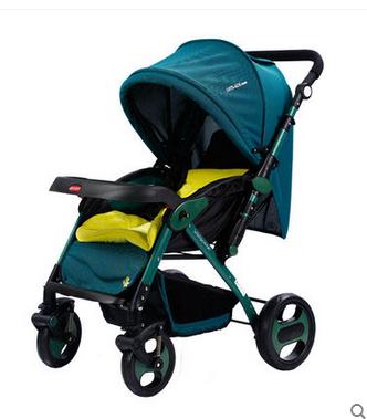 爱尔宝贝MJ808高景观婴儿推车轻便折叠儿童手推车双向避震四轮儿童车厂家批发