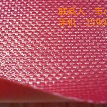红色1000D涂刮PVC夹网布-箱包使用