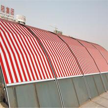 厂家定制天幕篷阳光房电动天幕棚户外全自动轨道伸缩天幕遮阳篷图片