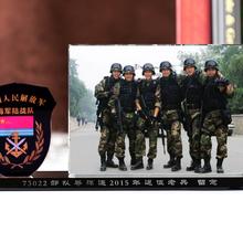 湖北武汉战友聚会纪念品订购,部队退伍摆件,陆军联谊会纪念品水晶相框图片