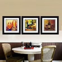 广东华仑观色厂家酒店家居餐厅装饰画沙发背景画挂画出口定做抽象挂画装饰画厂家图片