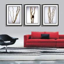 广东厂家出口批发定做抽象现代油画沙发背景画酒店装饰画玄关画厂家定做画抽象画装饰画图片