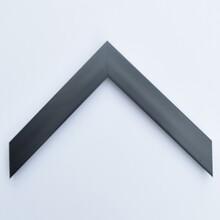 厂家定做出口现代风格高分子材料3公分黑色小画框线条图片