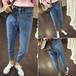 浙江杭州哪里有便宜牛仔裤批发夏季爆款牛仔裤时尚牛仔裤破洞牛仔九分裤一手货源