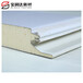 邵陽75mm聚氨酯封邊巖棉板價格A級阻燃雙面彩鋼