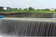 安徽名川弧形彩色液压活动坝人造瀑布为河道景观添姿彩