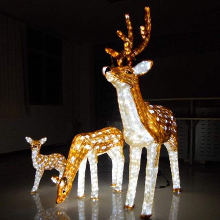 鹿~马滴胶动物造型灯物