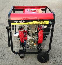 结构简单柴油动力消防泵手推式2.5寸口径图片