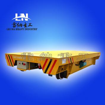有轨电动运输平板轨道车KPX-20T电动四轮搬运平板车蓄电池供电