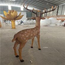 玻璃钢梅花鹿雕塑,玻璃钢仿真动物雕塑