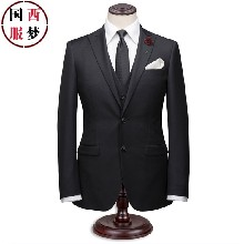 青岛黄岛开发区男士西服男士双排扣西服定制男士正装西服衬衫男士西装黑色西服订做价格
