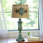 创意欧式软装设计动物鹦鹉台灯美式乡村黄白绿色客厅卧室床头灯