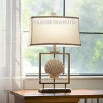 地中海北欧复高档古贝壳台灯欧式软装设计客厅儿童书房卧室床头灯