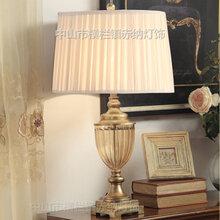欧式水晶台灯创意美式奢华卧室床头灯婚庆简约现代玻璃客厅台灯