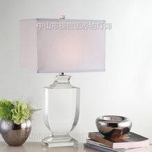 包邮现代奢华透明K9奖杯水晶台灯美式风格卧室床头灯书房办公桌灯