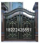 天津铝艺大门加工,铝艺电动大门制作安装图片