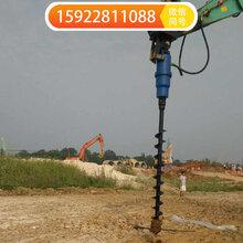 挖机属具螺旋钻机光伏打孔机液压钻孔机图片