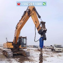 螺旋钻机6-8吨挖机螺旋钻小型螺旋钻适合各种土质可另配延长杆图片