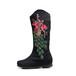 绣花鞋厂169-8新款女鞋批发棉布靴子民族风布鞋
