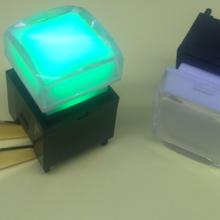 供应音视频处理器水晶盖带灯轻触按键开关17.4X17.4mm15x15mm