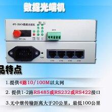 赛维思2路RS485含4路100M网数据光端机