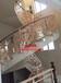 别墅弧形铜艺楼梯护栏旋转铜艺扶手厂家
