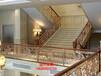 雕花屏风弧形铜艺楼梯护栏旋转楼梯扶手厂家