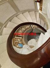 平台弧形_护栏_铜_楼梯护栏_单边铜_楼梯厂家图片