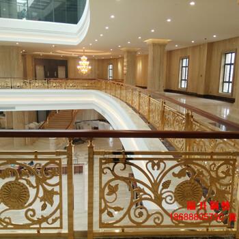 全新材料铜艺楼梯护栏安装细节图