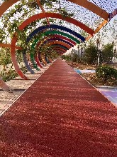 渝中透水混凝土水泥压花材料供应、彩色地坪铺装
