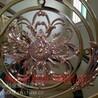 豪华酒店楼梯装饰经典郁金香K金护栏艺术雕花香槟金护栏