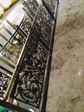 古铜色铝艺雕花护栏铝艺镂空金色花格护栏图片