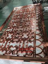 艺术仿古铜不锈钢屏风不锈钢焊接中式屏风图片