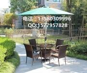 户外休闲藤桌椅PE藤茶几桌椅图片