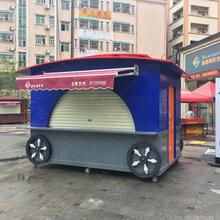 定制�景区木质售货车_商业街移动餐车图片