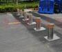 番禺学校门口安装使用安全防护自动升降柱带灯警示路桩