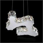 led不锈钢吊灯,K9水晶吊灯,客厅时尚简约吊灯,酒店餐厅灯