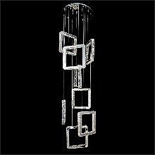 现代简约方形酒店楼梯吊灯餐厅别墅时尚艺术工程不锈钢水晶吊灯