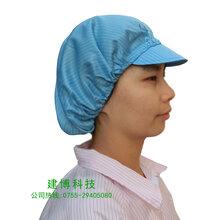 防静电净化工作帽食品加工厂防静电鸭舌帽图片