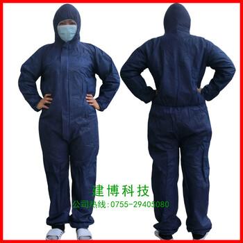 深圳建博供应一次性蓝色防护服一次性白色防护服
