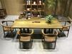 非洲鸡翅木实木大板家具办公桌老板桌书桌写字台画案餐桌茶桌茶台茶几