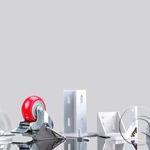 工业铝型材配件厂家设备框架安装用弹性扣件图片