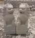 九江厂家直销芝麻白花岗岩石狮子石雕狮子定做批发